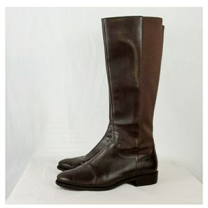 COLE HAAN ROCKLAND RIDING BOOT CHESTNUT LEATHER